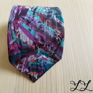 Hardy Amies Tie Mens Savile Row London 80s Vintage